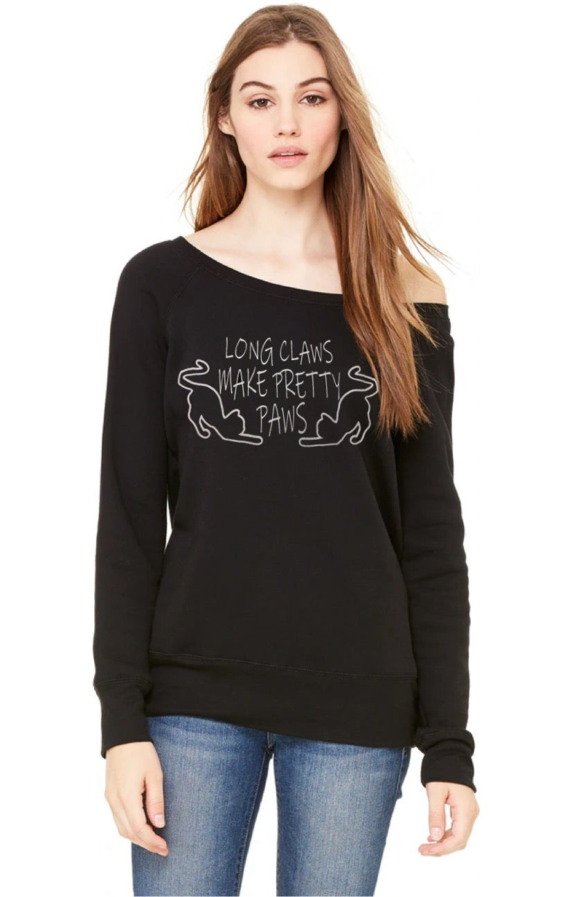 Image of GLITTER Pretty Paws Off Shoulder Sweater