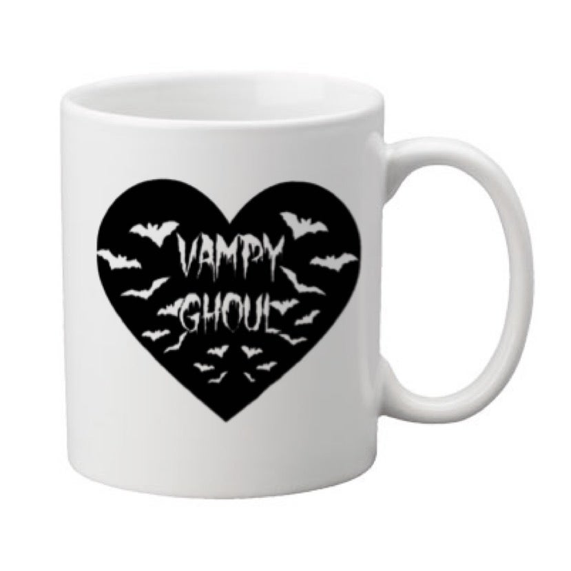 Image of Vampy Ghoul Heart 11oz. Mug