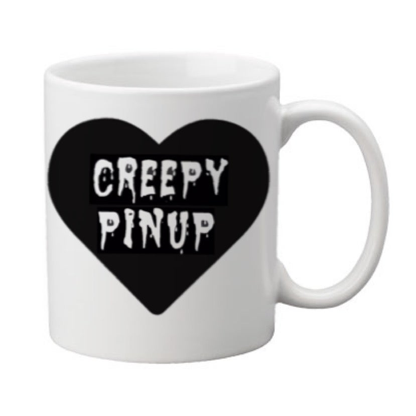 Image of Creepy Pinup Heart 11oz. Mugs