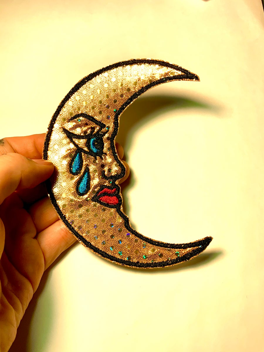 Image of Glitter Moon Patch