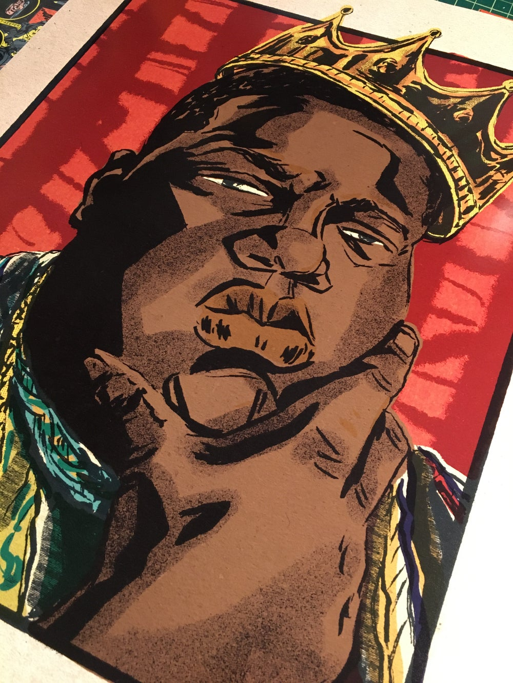 Notorious B.I.G. Color Print