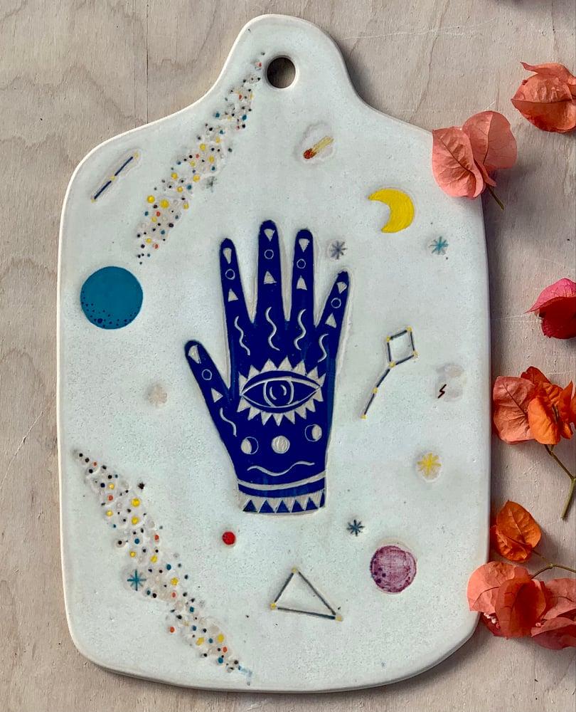 Image of Cobalt Blue Cosmic Hand