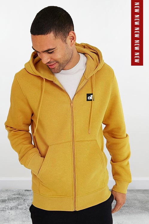 Image of E11evens - Mustard zipped hoodies