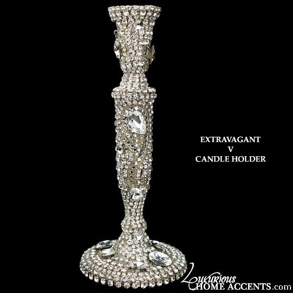 Image of Swarovski Crystal Candle Holder Extravagant V