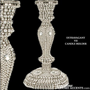 Image of Swarovski Crystal Candle Holder Extravagant VII