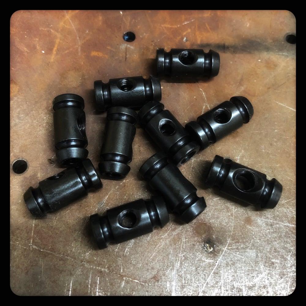 Image of 10 BLACK OXIDE STEEL BINDERS (FRONT OR BACK)