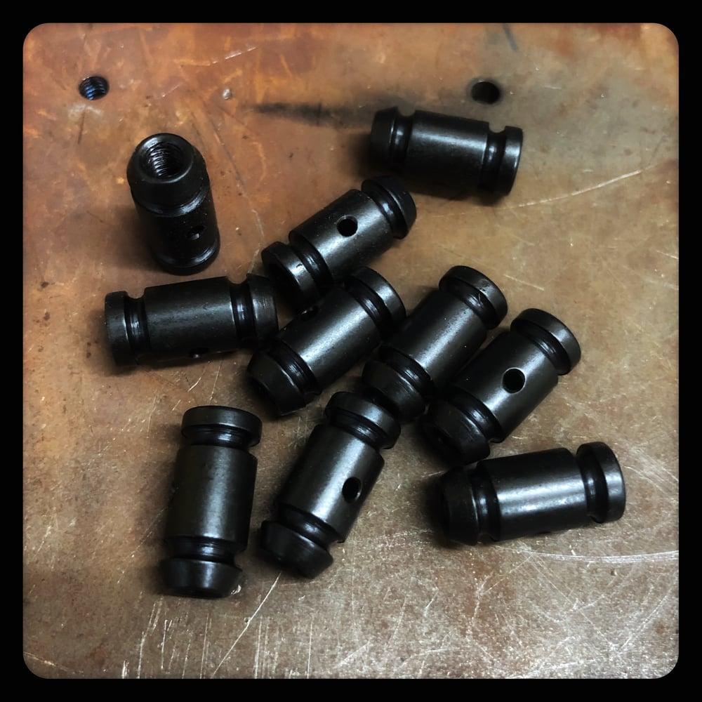 10 BLACK OXIDE STEEL BINDERS (FRONT OR BACK)