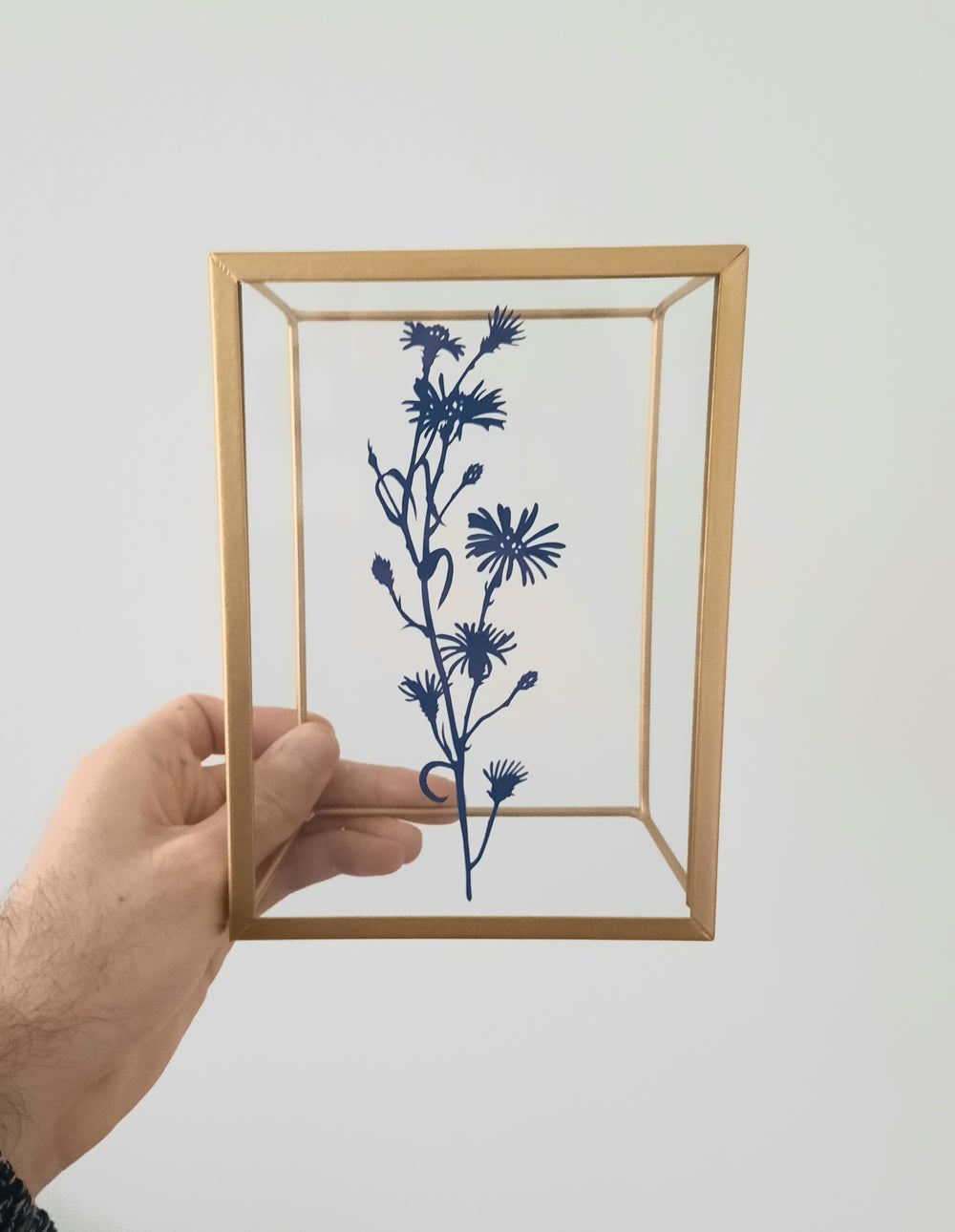 Image of Framed Hand Cut Flowers