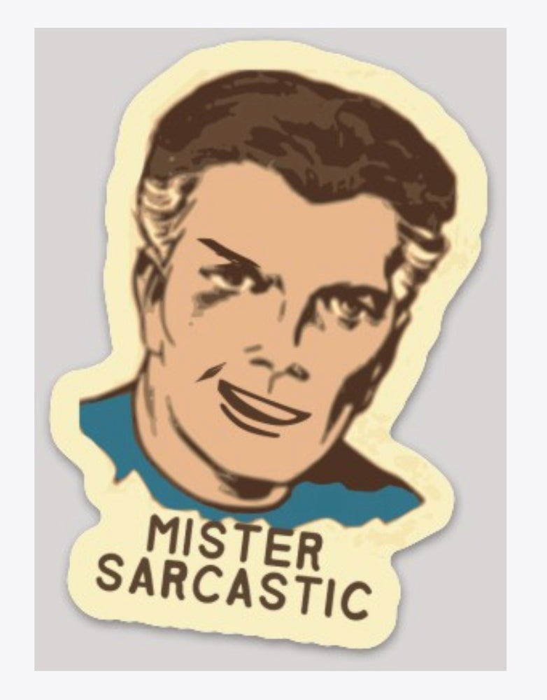 Image of Mr. Sarcastic Decal
