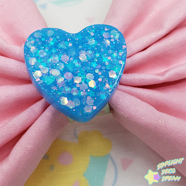 Image of Painted Confetti Pink Sparkling Cotton Hair Bow Alligator Hair Clip