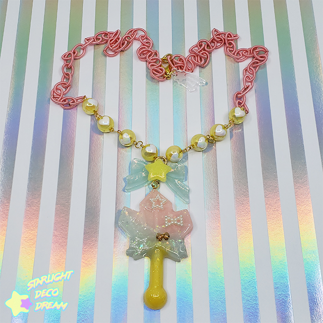 Image of Shining Crystal Magic Wand Necklace