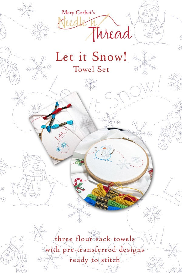 Image of Let It Snow Ready to Stitch