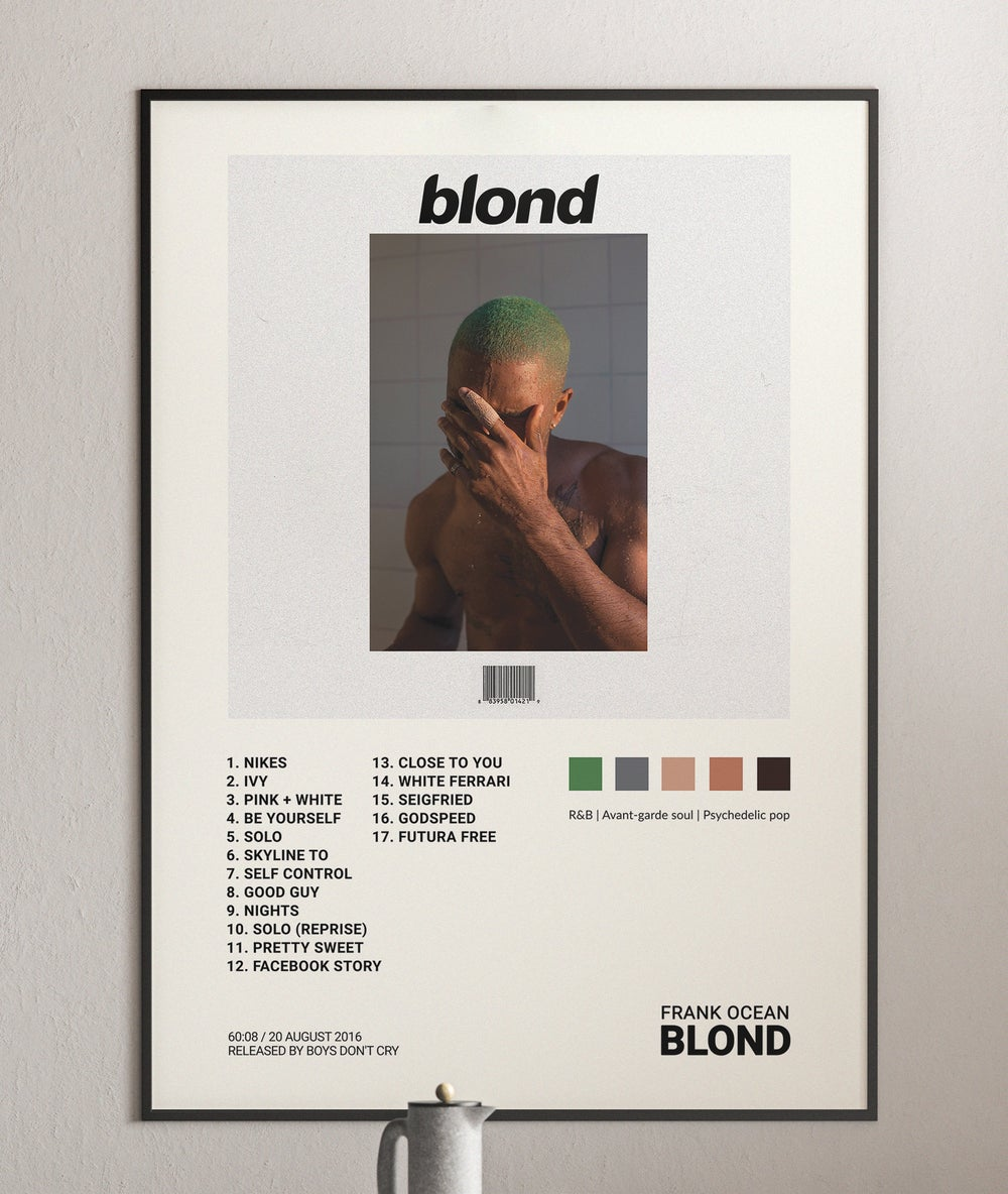 Frank Ocean - Blond (Blonde) Album Cover Poster Print