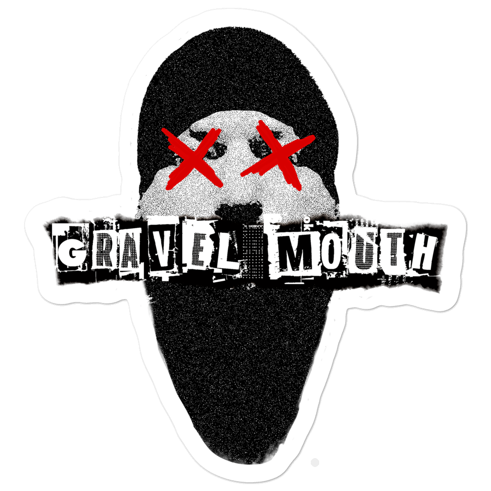 Image of Gravel Mouth Cover Sticker (3 Sizes Available)