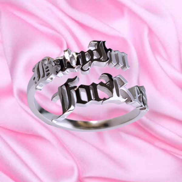 "Image of ""Baby Im For Real"" Ring SILVER"