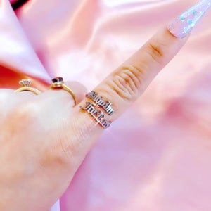 """Image of """"Baby Im For Real"""" Ring SILVER"""