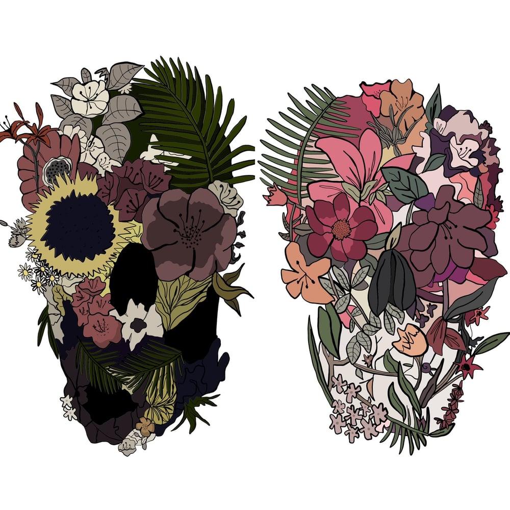 Image of Set of 2 Skull Prints