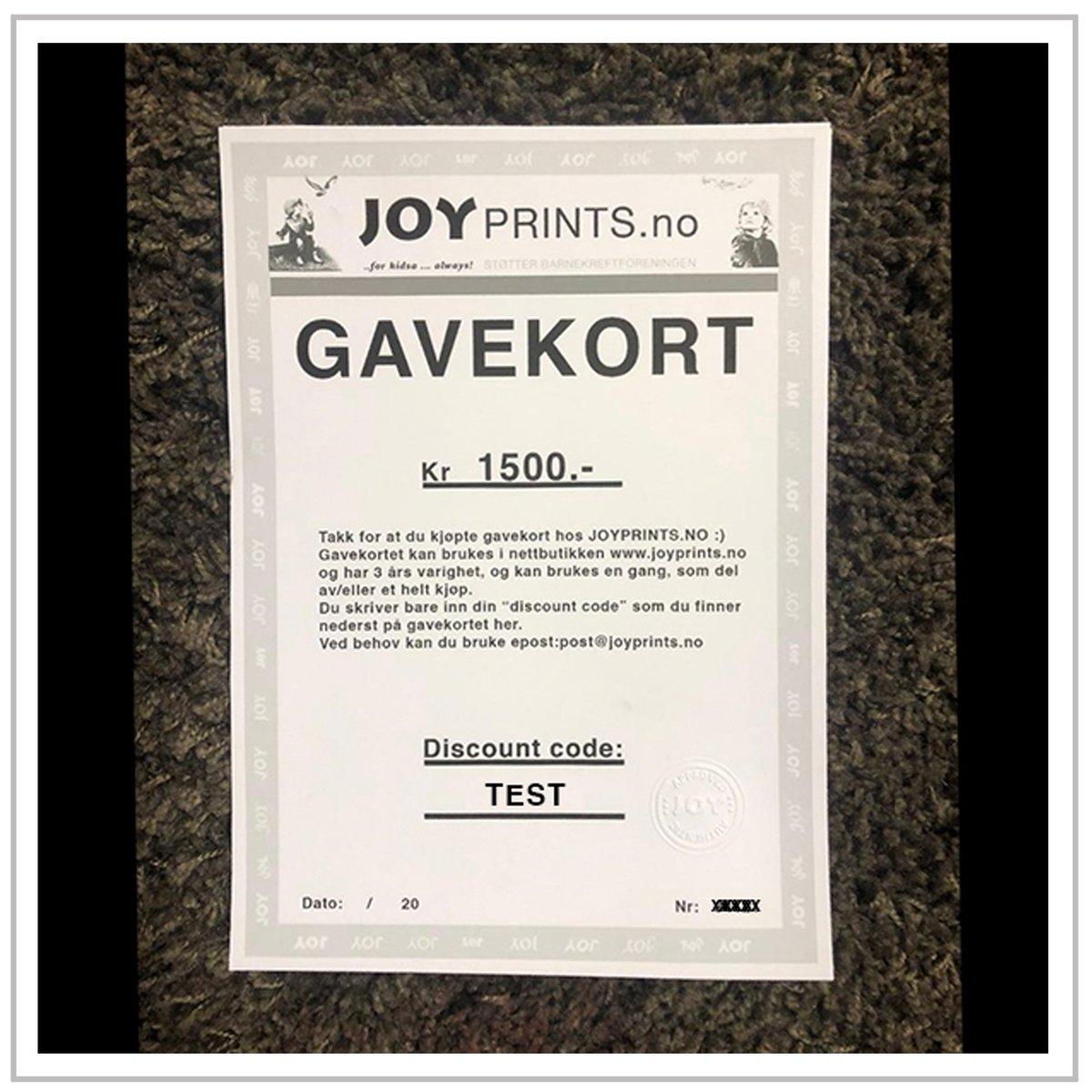 Image of GAVEKORT  FRA 500.- TIL 5000.-