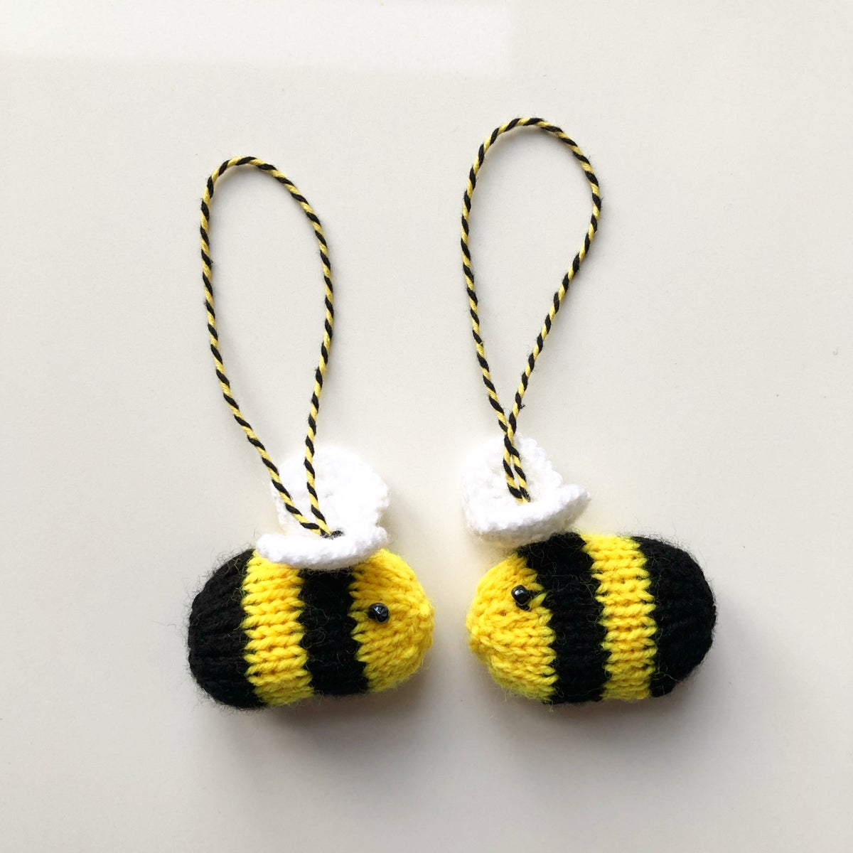 Image of KNITTED BEE HANDMADE DECORATION