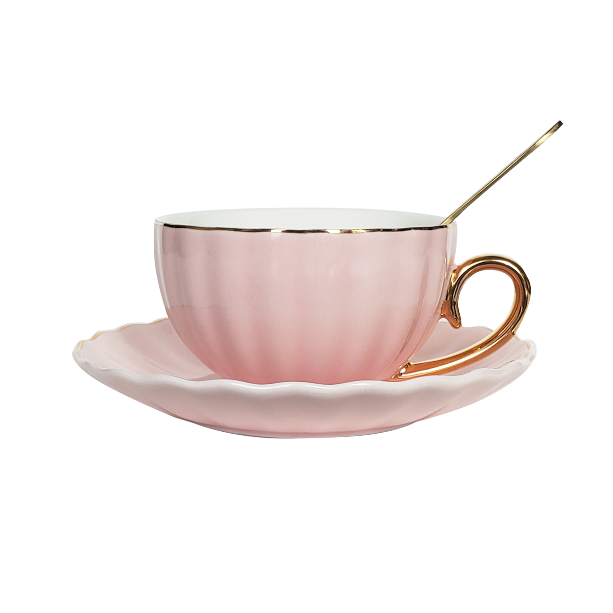 Image of Flamingo Pink Teacup Set for 2
