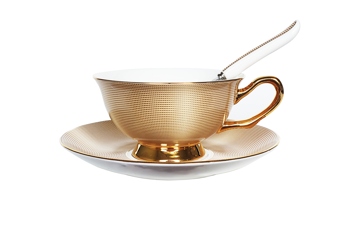 Image of Royal Gold Teacup Set of 2
