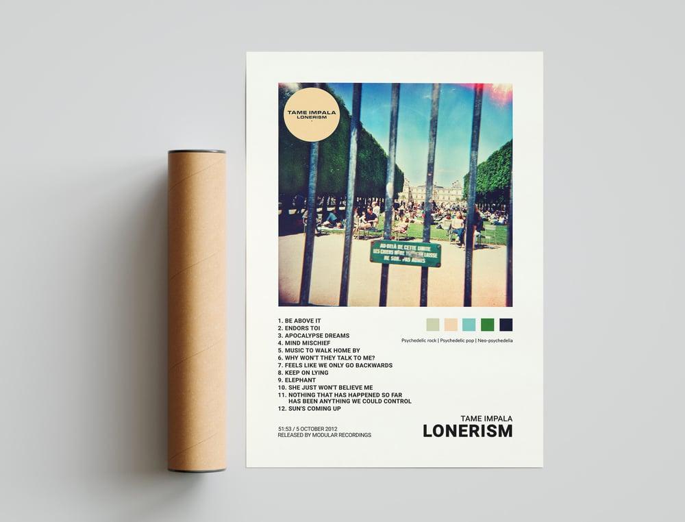 Tame Impala - Lonerism Album Cover Poster Print