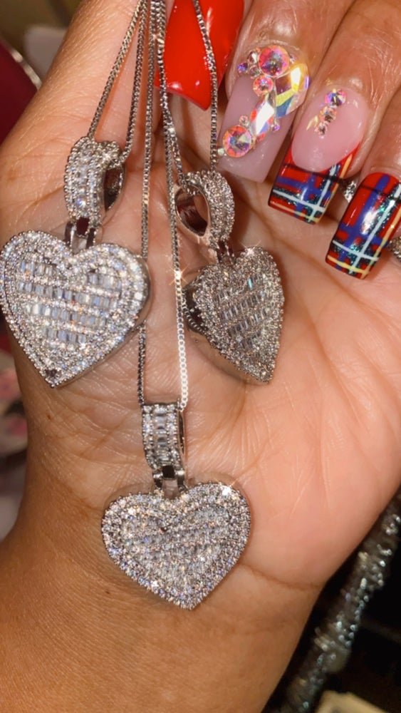 Image of Baguette Heart Necklace
