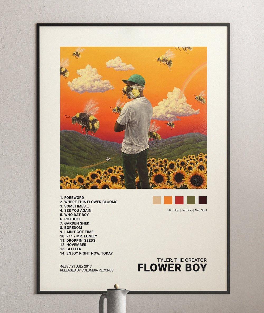 Tyler, The Creator - Flower Boy, Album Cover Poster Print