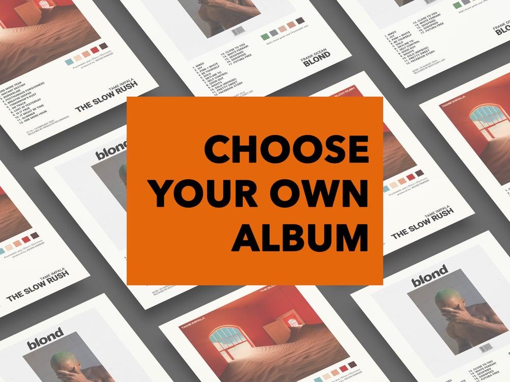 Custom Album Cover Poster, Poster Mockup, Poster Template
