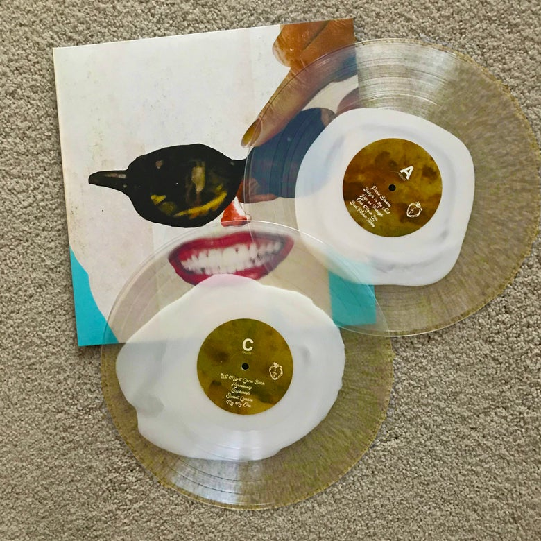 "Image of Black Moth Super Rainbow ""Panic Blooms"" Clear & Cream 2xLP"