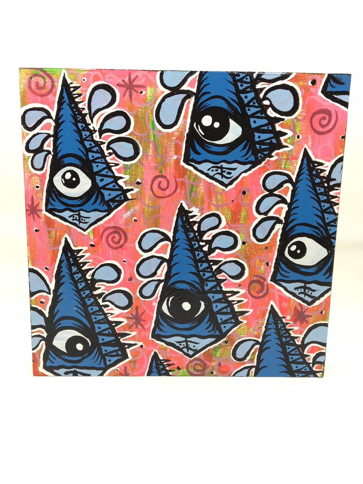 Blue Pyramid Army Painting by Eye Gato