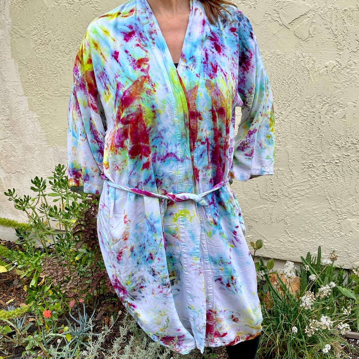 Custom Hand Dyed Kimonos! - Purple Green
