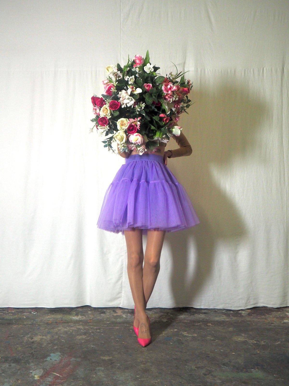 Mini jupe tutu couleur lilas