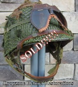 Image of WWII M2 101st Airborne 501st Helmet D-bale Front Seam Paratrooper Westinghouse Liner NCO