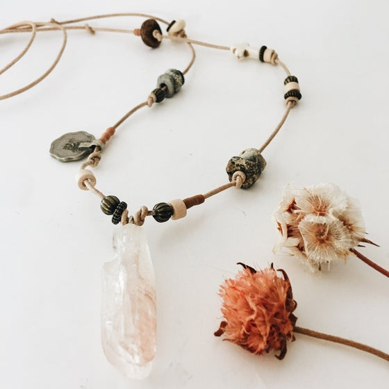 Image of Trinket/ gemstone necklace