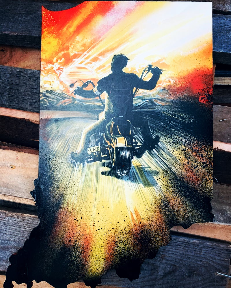 """Image of """"Born to Ride""""( Hand Painted Reproduction)"""