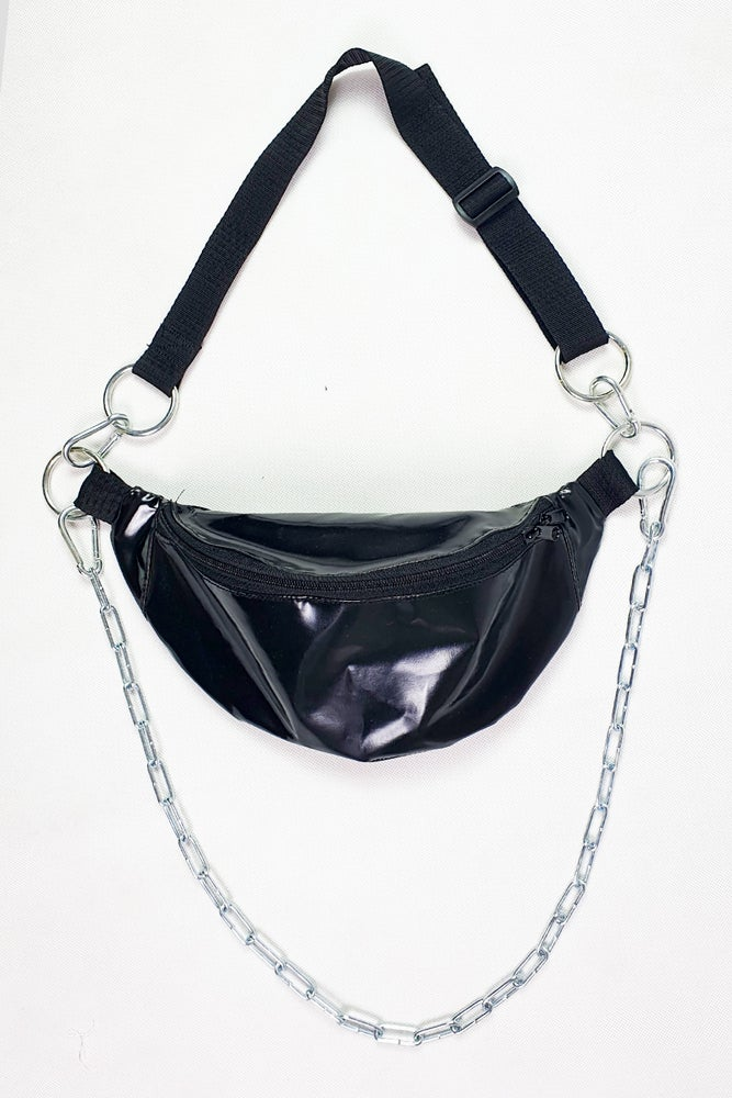 Image of Black PVC Fannypack