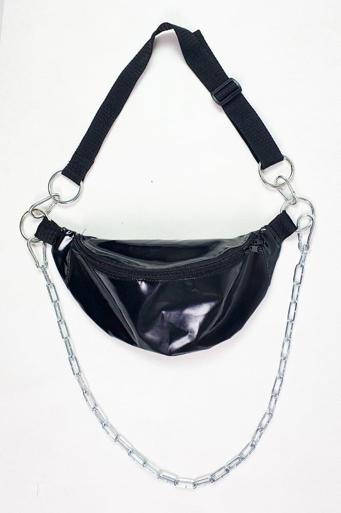 Image of Black PVC Fannypack