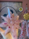 'Flow state' pale pink star hanging decoration