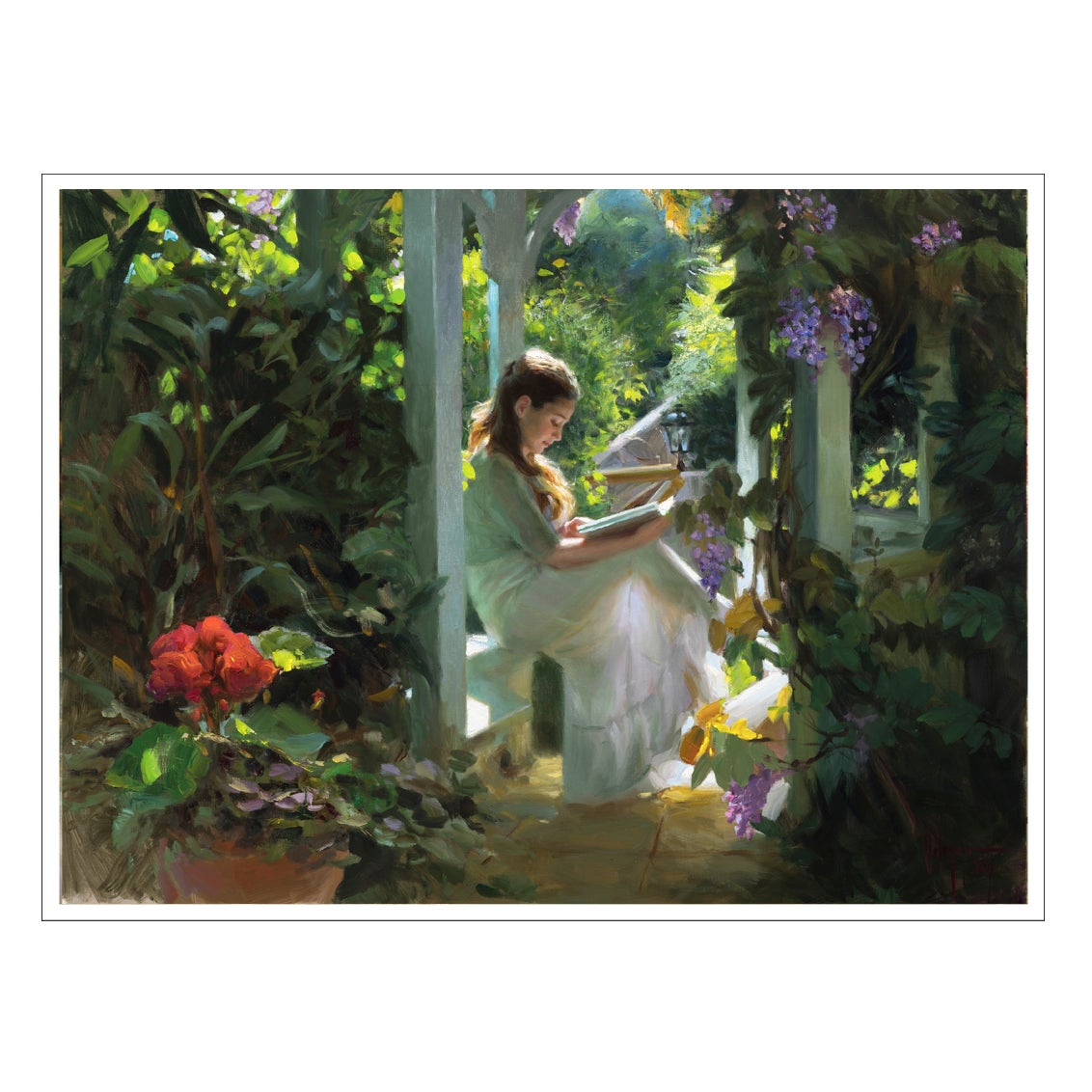 "Image of PRINT ON CANVAS ""THE SECRET GARDEN"""