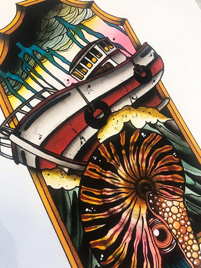Kunstdruck // Nautilus Kutter