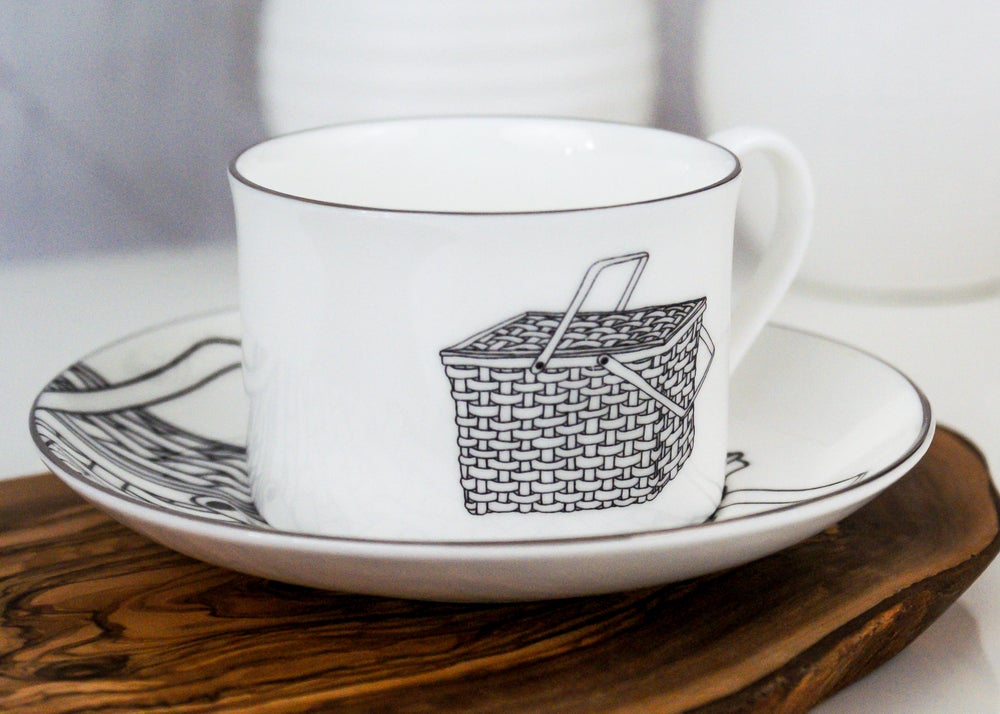 Image of Vintage Picnic Teacup and Saucer