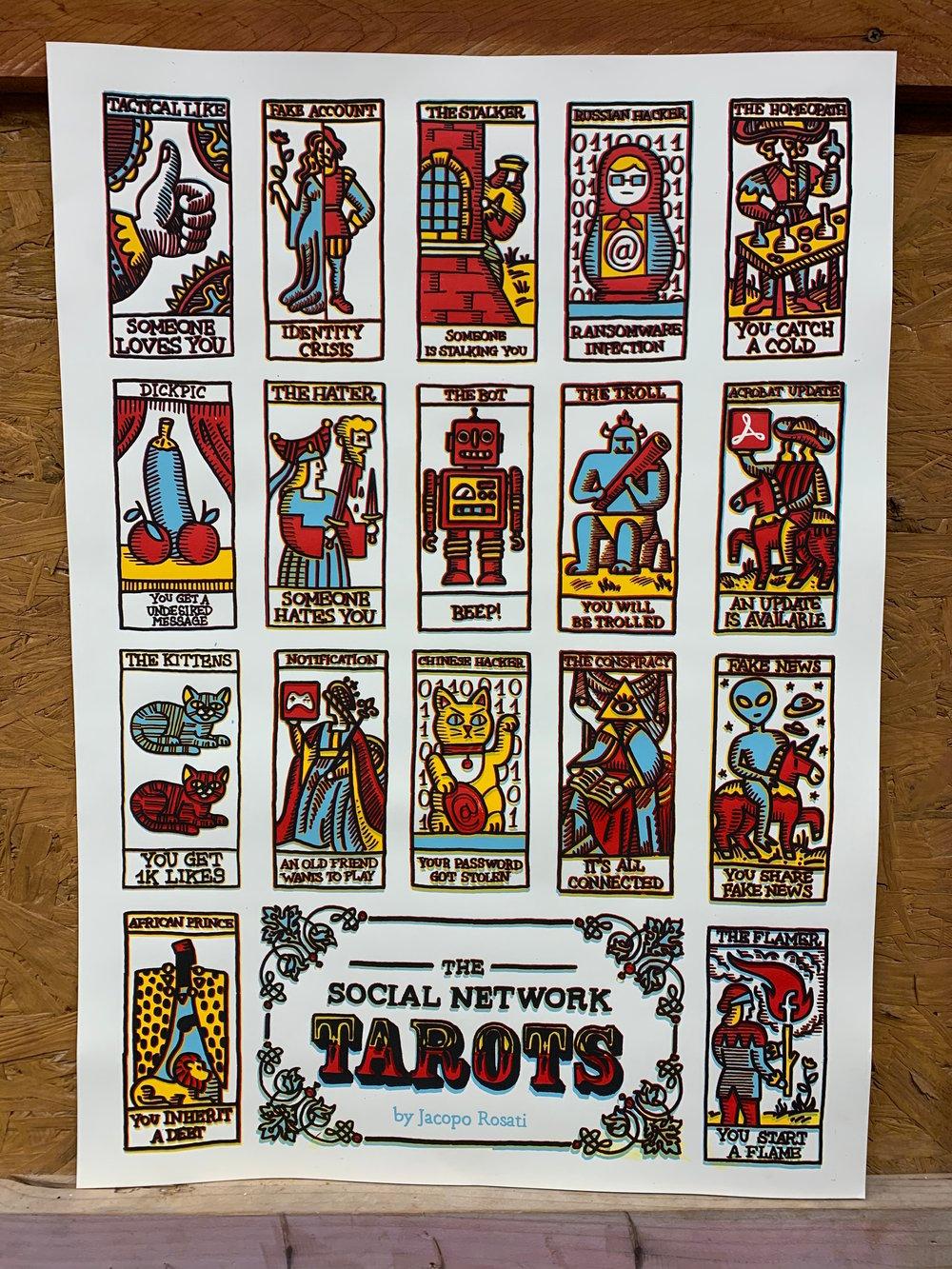 Social Network Tarots by Jacopo Rosati