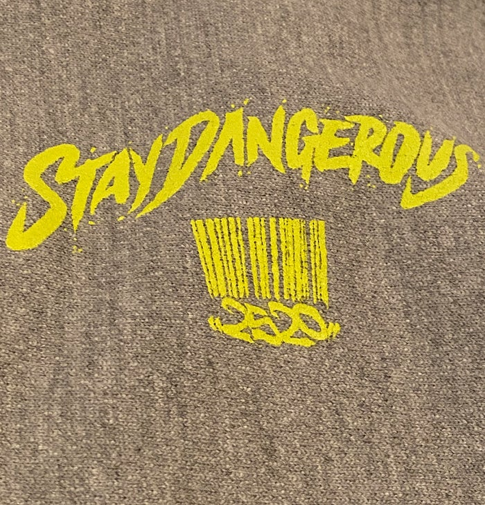 """Image of 2520 X CHAMPION """"STAY DANGEROUS"""" HOODIE - OXFORD GRAY"""