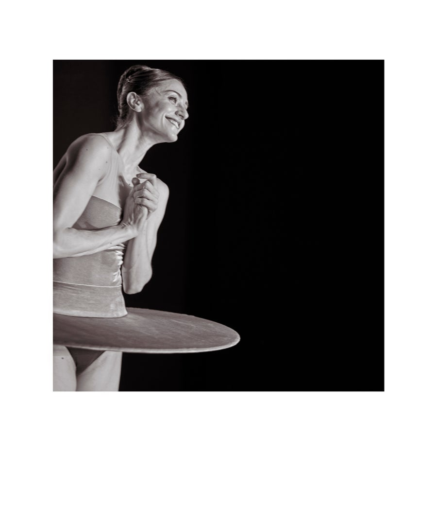 Image of Marianela Nuñez, Principal of The Royal Ballet, in the wings at The Royal Opera House..