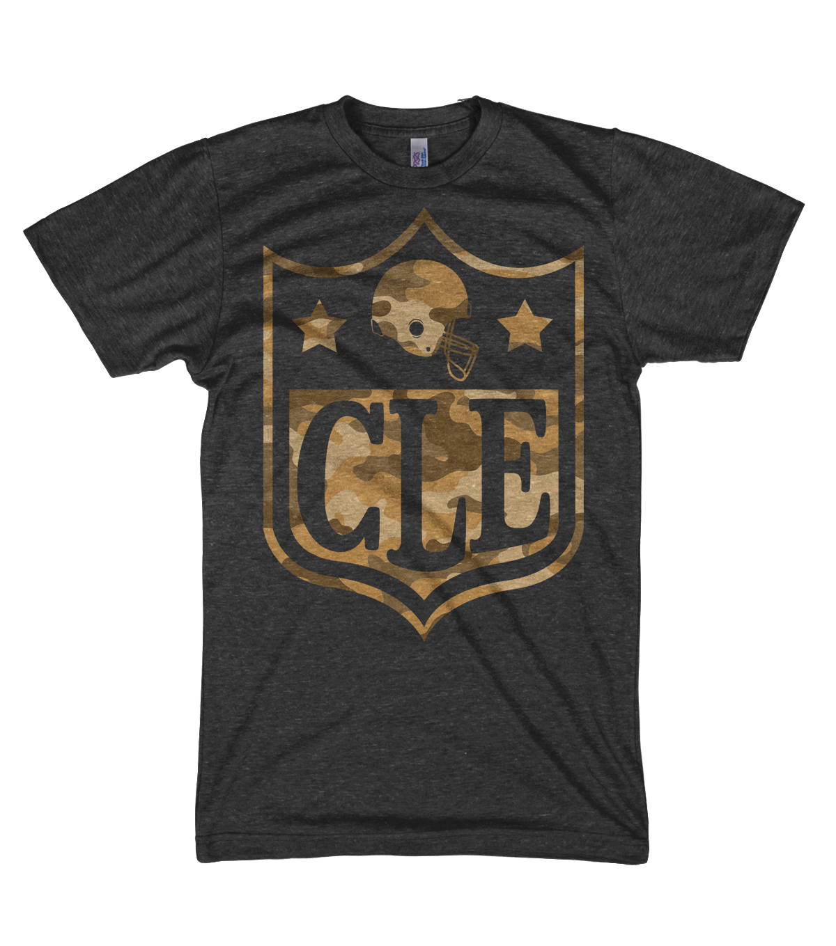 Image of CLE NFL Camo Black Shirt