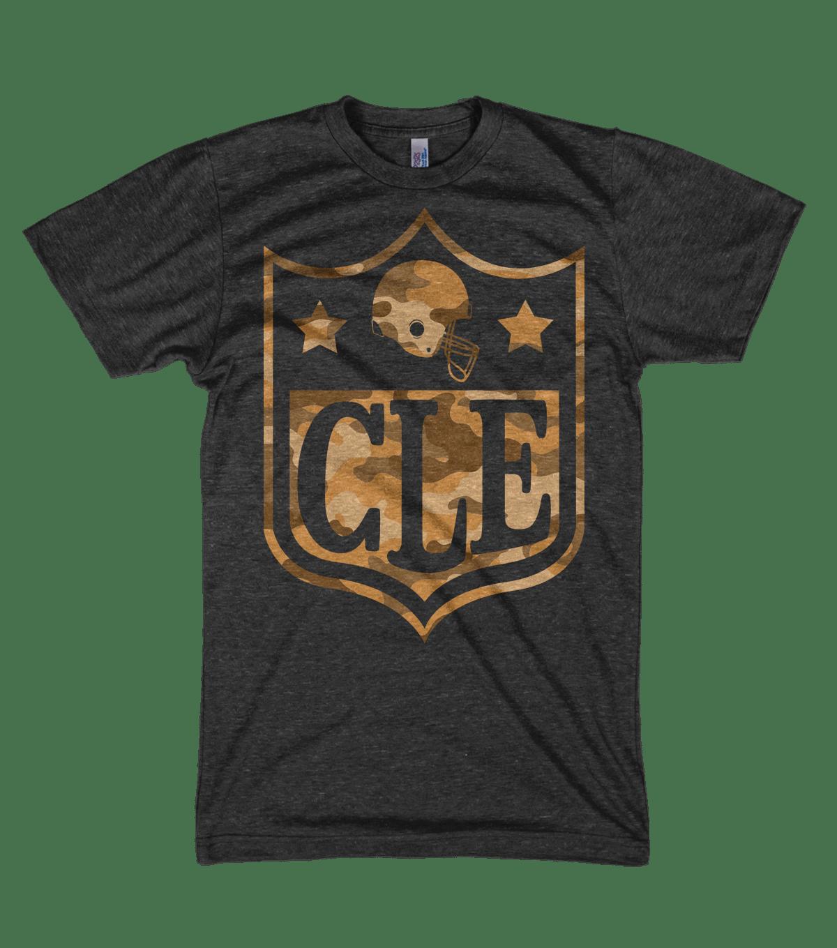 Image of CLE NFL Camo Black Shirt