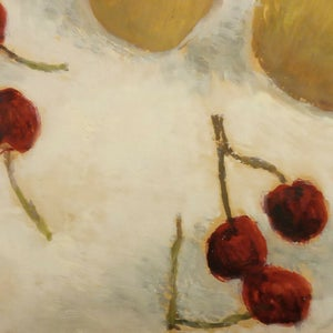 Image of 1943, French Still Life, Painting, Cherries and Pears, Jacques Berland