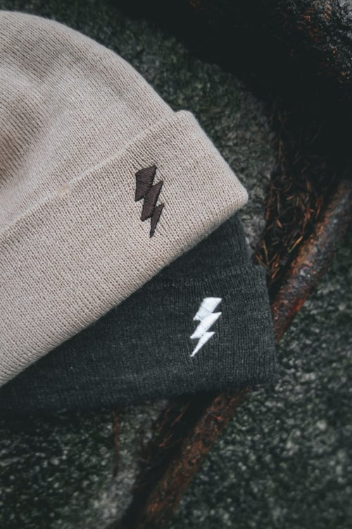 Image of Charcoal Bolt Beanie