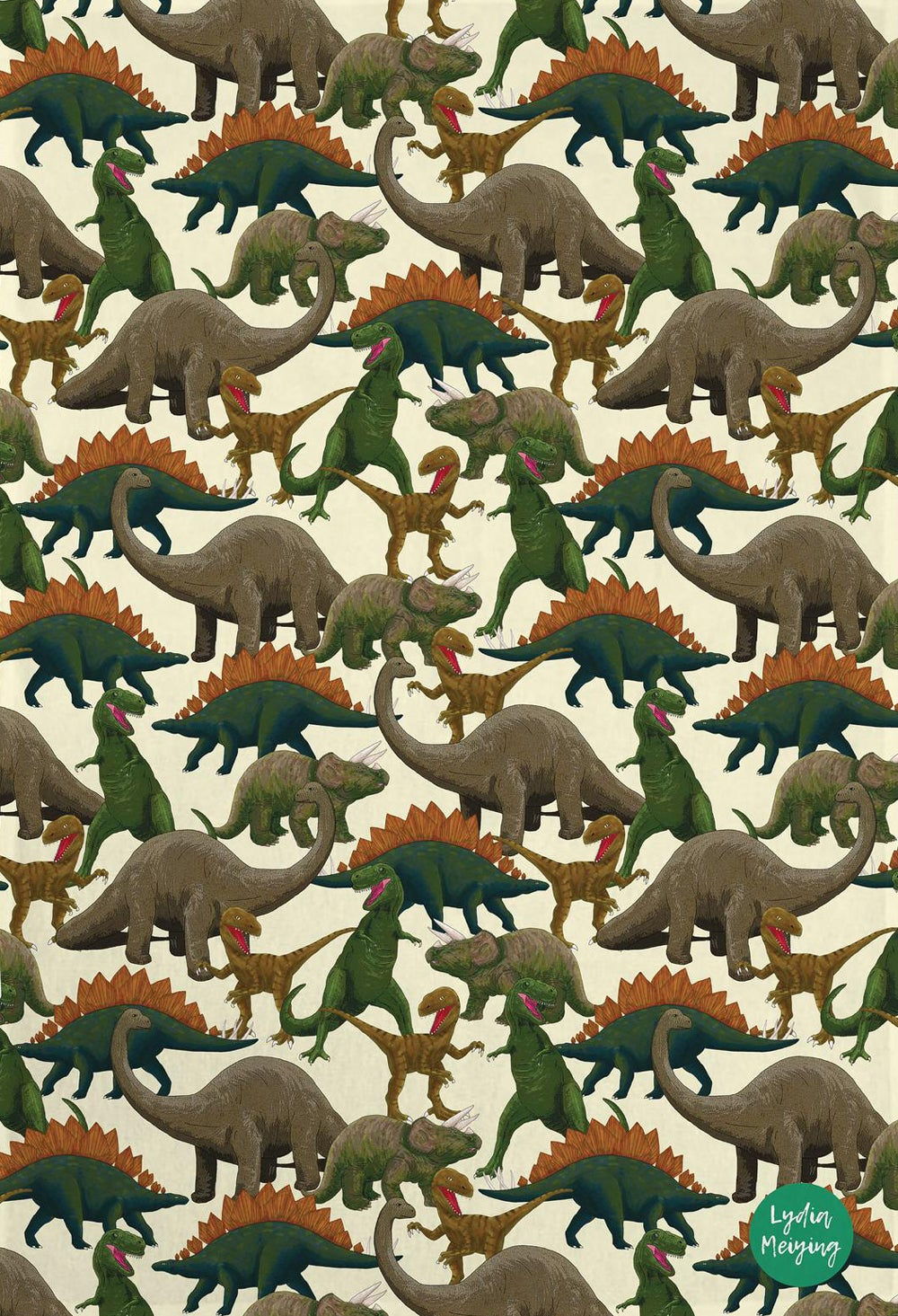 Image of Dinosaur Tea Towel